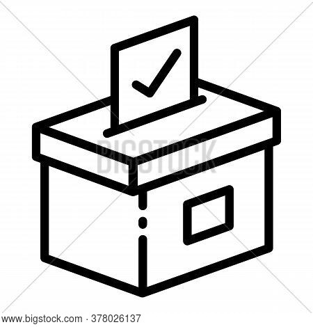 Ballot Icon. Outline Ballot Vector Icon For Web Design Isolated On White Background