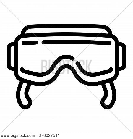 Vr Goggles Icon. Outline Vr Goggles Vector Icon For Web Design Isolated On White Background