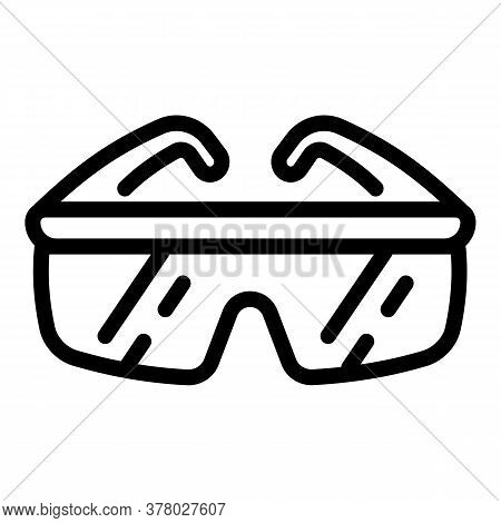 Work Goggles Icon. Outline Work Goggles Vector Icon For Web Design Isolated On White Background