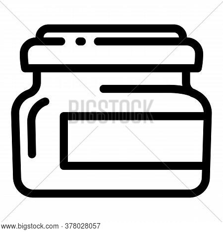Mustard Jar Icon. Outline Mustard Jar Vector Icon For Web Design Isolated On White Background