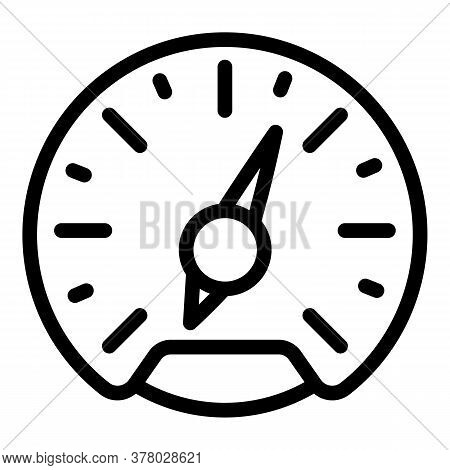 Arrow Speedometer Icon. Outline Arrow Speedometer Vector Icon For Web Design Isolated On White Backg