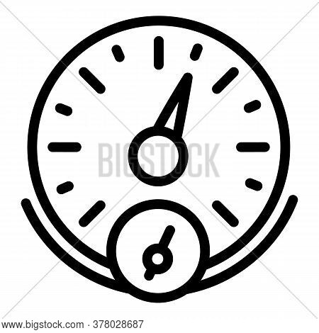 Sport Car Speedometer Icon. Outline Sport Car Speedometer Vector Icon For Web Design Isolated On Whi