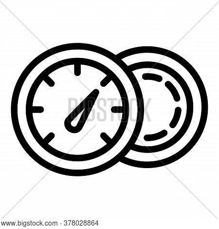 Full Fuel Gauge Icon. Outline Full Fuel Gauge Vector Icon For Web Design Isolated On White Backgroun