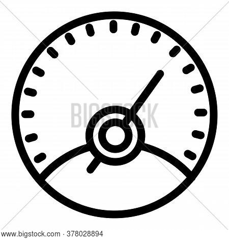 Drive Speedometer Icon. Outline Drive Speedometer Vector Icon For Web Design Isolated On White Backg