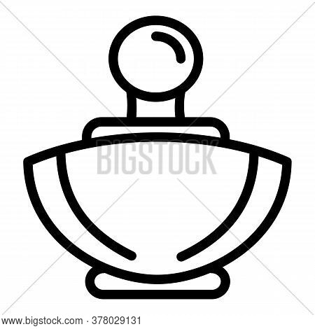Perfume Bottle Icon. Outline Perfume Bottle Vector Icon For Web Design Isolated On White Background