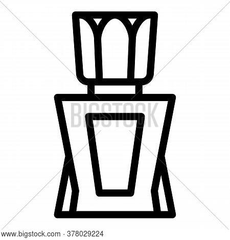 Elegant Perfume Icon. Outline Elegant Perfume Vector Icon For Web Design Isolated On White Backgroun