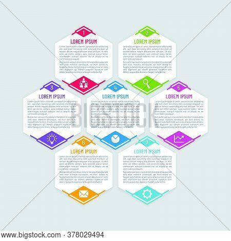 Infographic Vector Template With Honeycomb Shapes. Colorful Hexagonal Banner Design.