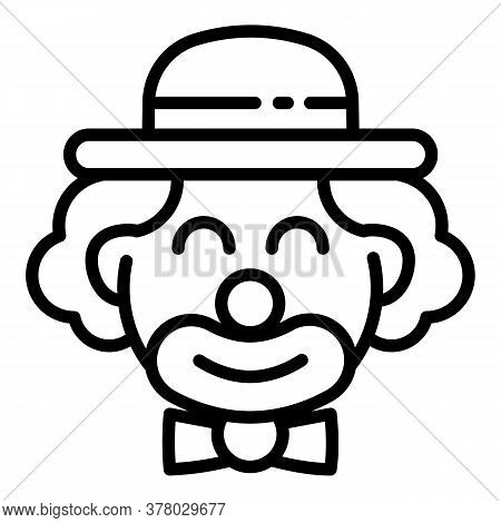 Circus Clown Icon. Outline Circus Clown Vector Icon For Web Design Isolated On White Background