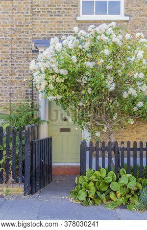 July 2020 London. A Pretty Door In Greenwich, London England United Kingdom
