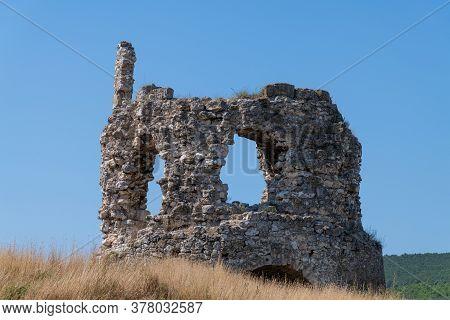Remains Of The Kalamita Fortress In Crimea. Landmark