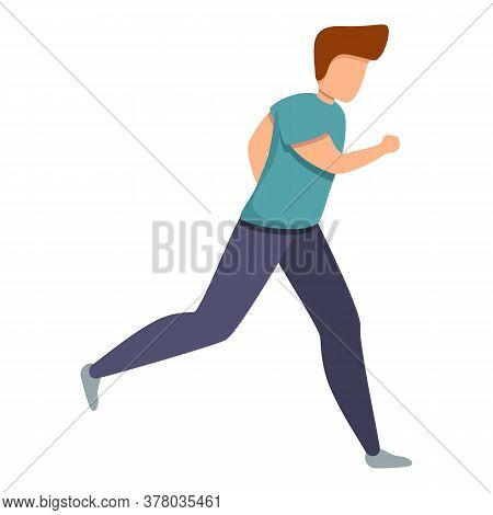 Training Running Icon. Cartoon Of Training Running Vector Icon For Web Design Isolated On White Back