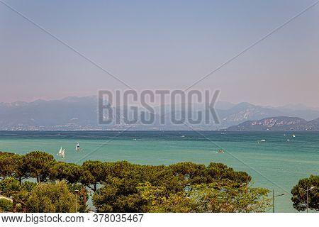 Lake Garda, View Of The Marina With Many Boats