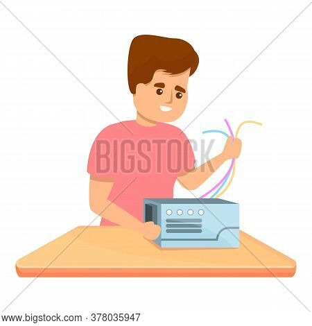 Kid Programming Device Icon. Cartoon Of Kid Programming Device Vector Icon For Web Design Isolated O