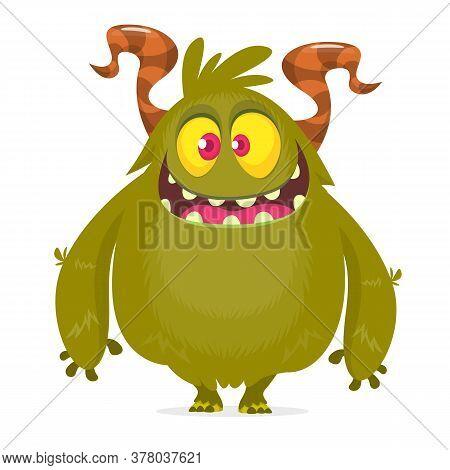 Funny Cartoon Monster. Halloween Monster Illustration