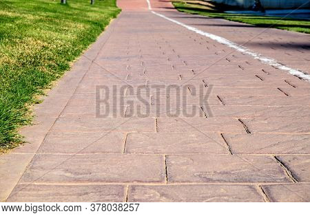 Stamped Concrete Cement Printed Pavement, Exterior Flooring Resistant