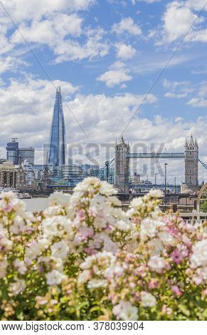 June 2020. London. The Shard, Tower Bridge And Riveer Thames, London, England, United Kindom Europe