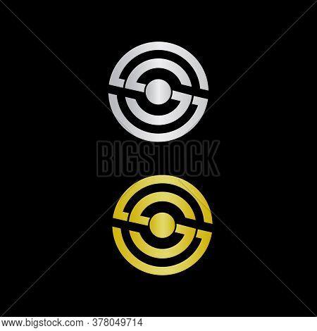 Double Letter S Logo Design, S Logo, Rounded Letter S Logo