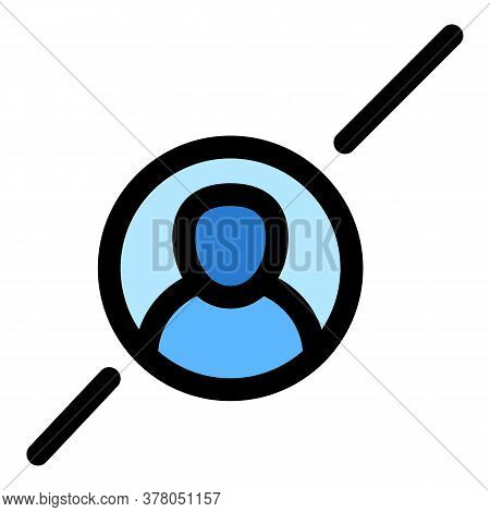 Online Avatar Icon. Outline Online Avatar Vector Icon For Web Design Isolated On White Background