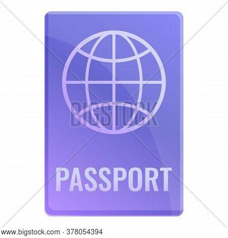 Personal International Passport Icon. Cartoon Of Personal International Passport Vector Icon For Web
