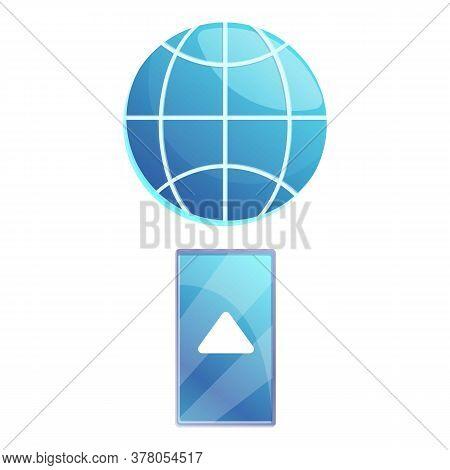 Smartphone Remote Access Icon. Cartoon Of Smartphone Remote Access Vector Icon For Web Design Isolat