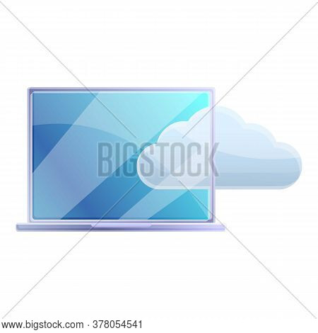 Cloud Laptop Remote Access Icon. Cartoon Of Cloud Laptop Remote Access Vector Icon For Web Design Is