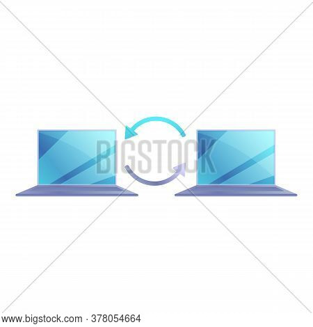 Remote Access Computer Connection Icon. Cartoon Of Remote Access Computer Connection Vector Icon For