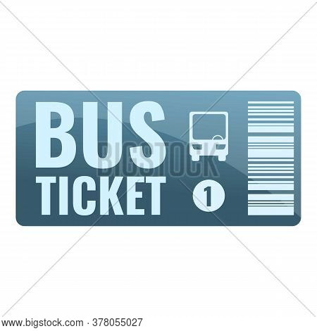 Bus Ticket Card Icon. Cartoon Of Bus Ticket Card Vector Icon For Web Design Isolated On White Backgr