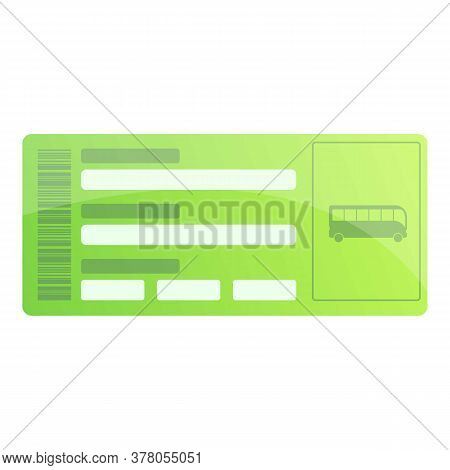 Bus Ticket Coupon Icon. Cartoon Of Bus Ticket Coupon Vector Icon For Web Design Isolated On White Ba