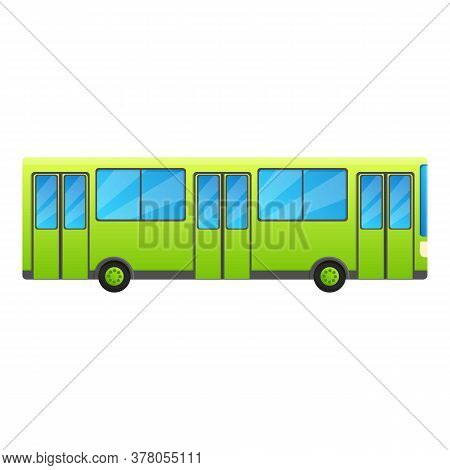 City Bus Icon. Cartoon Of City Bus Vector Icon For Web Design Isolated On White Background