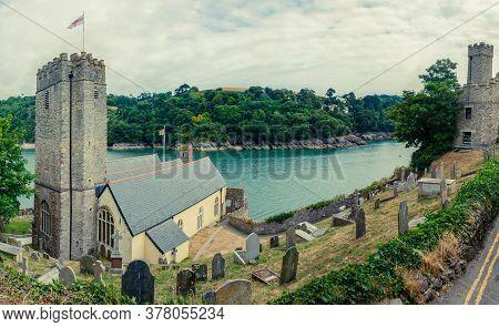26 July 2018 - Dartmouth, Devon, Uk: Dartmouth Castle On The Estuary Of The River Dart, Devon. The C