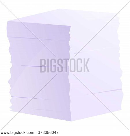 Storage Documents Papers Stack Icon. Cartoon Of Storage Documents Papers Stack Vector Icon For Web D
