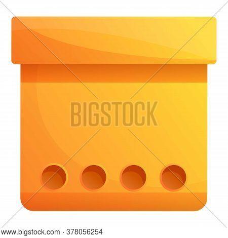 Carton Document Box Icon. Cartoon Of Carton Document Box Vector Icon For Web Design Isolated On Whit