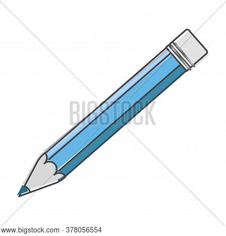 Pencil Vector Icon. Pencil For Your Design Cartoon Style On White Isolated Background. Layers Groupe