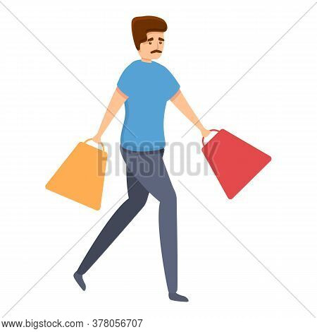 Shopping Habit Icon. Cartoon Of Shopping Habit Vector Icon For Web Design Isolated On White Backgrou