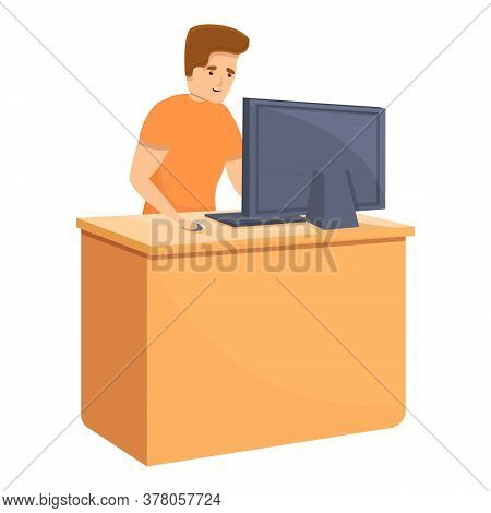 Habit Computer Gaming Icon. Cartoon Of Habit Computer Gaming Vector Icon For Web Design Isolated On