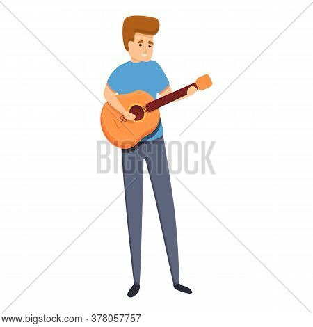 Habit Guitar Play Icon. Cartoon Of Habit Guitar Play Vector Icon For Web Design Isolated On White Ba
