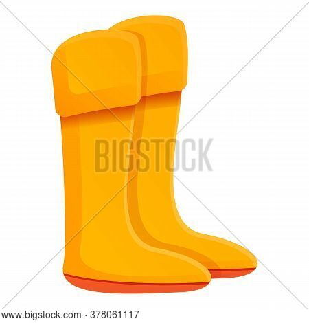 Dressing Room Boots Icon. Cartoon Of Dressing Room Boots Vector Icon For Web Design Isolated On Whit