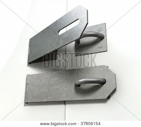 Metal Hasps Open And Closed