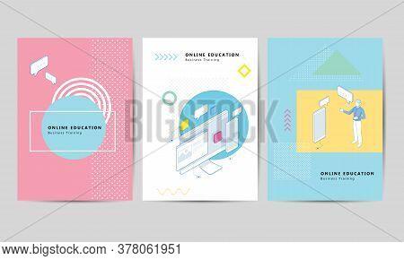 Brochure Template Layout Design. Corporate Business Flyer, Corporate Business Flyer. Isometric Train