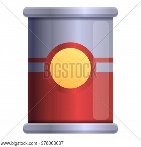 Tomato Tin Can Icon. Cartoon Of Tomato Tin Can Vector Icon For Web Design Isolated On White Backgrou