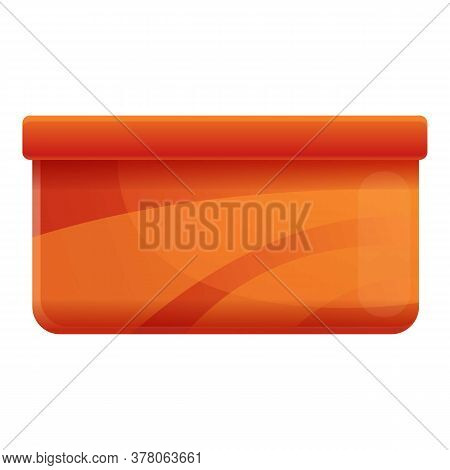 Plastic Food Storage Icon. Cartoon Of Plastic Food Storage Vector Icon For Web Design Isolated On Wh