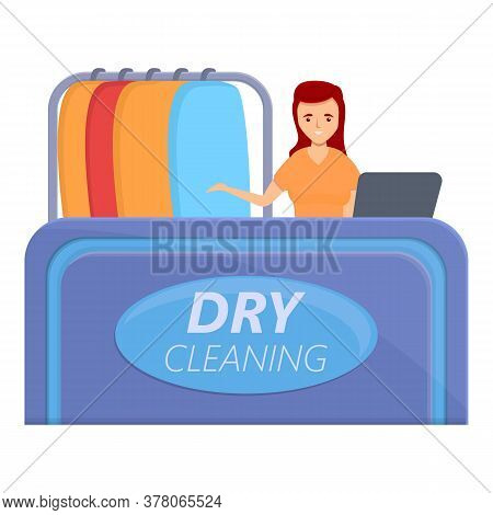 Dry Cleaning Room Icon. Cartoon Of Dry Cleaning Room Vector Icon For Web Design Isolated On White Ba