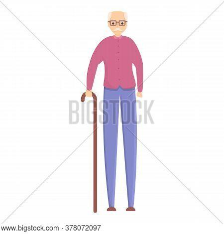 Elderly Man Icon. Cartoon Of Elderly Man Vector Icon For Web Design Isolated On White Background
