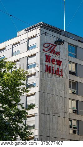 The New Midi Hotel N Geneva In Switzerland - City Of Geneva, Switzerland - July 8, 2020