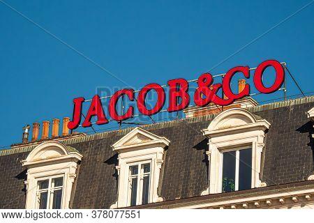 Jacob And Co Company In Geneva In Switzerland - City Of Geneva, Switzerland - July 8, 2020