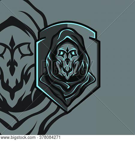 Dark Enemy Esport Gaming Mascot Logo Template