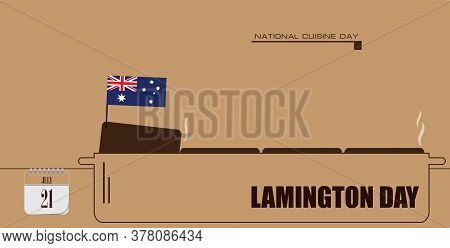 Post Card For Event July Day Lamington Day