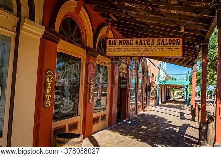 Tombstone, Arizona, Usa - March 2, 2019: Morning View Of Big Nose Kate's Saloon On Allen Street In T