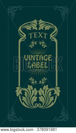 Art Nouveau Decorative Style Vector Vintage For Your Businees