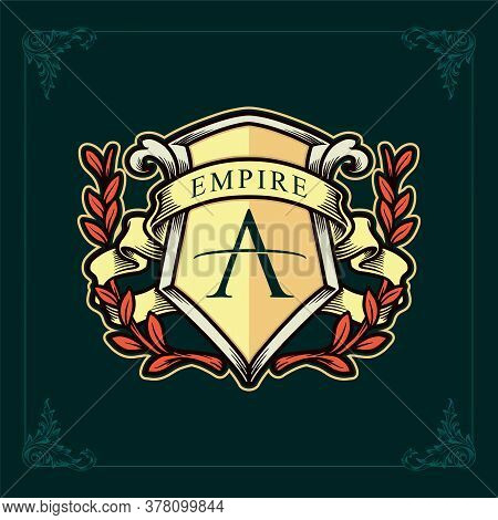 Empire Brand Logo Of The Kingdom And Ribbon